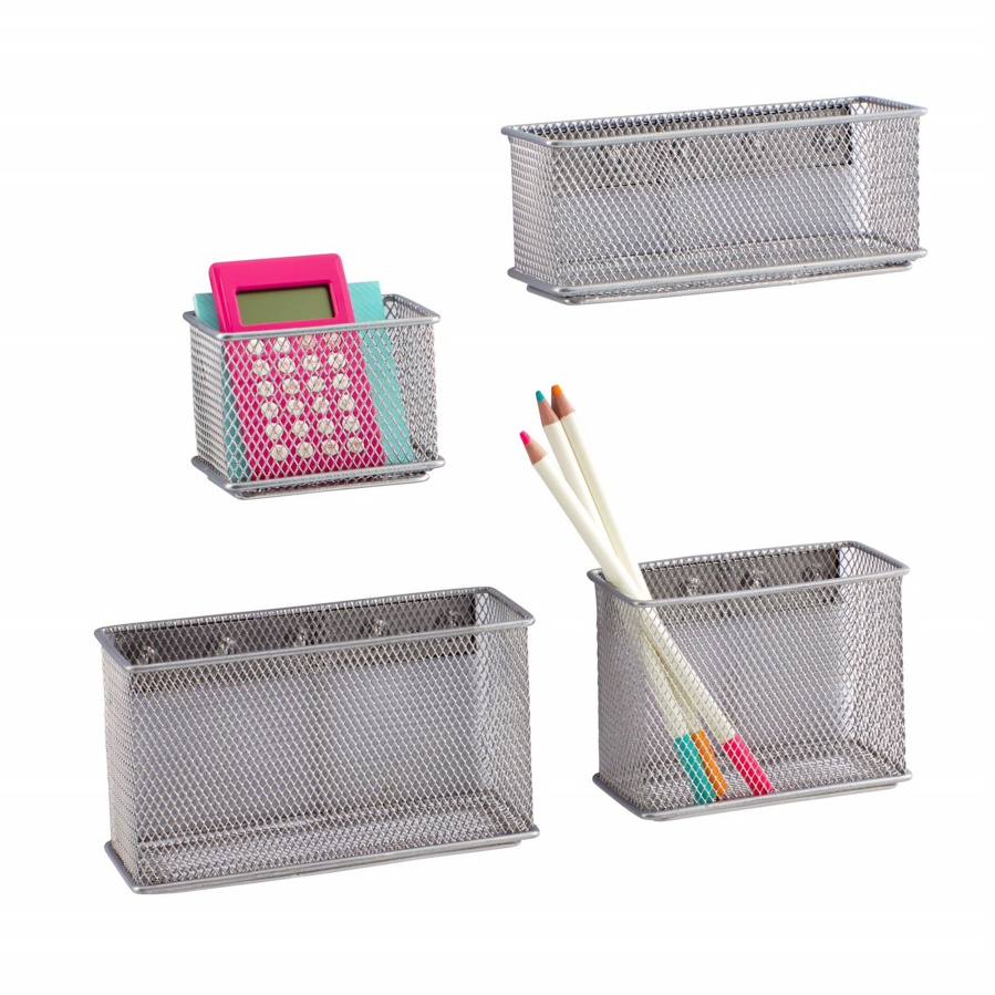 Delicieux Silver Magnetic Mesh Bins ($4.99 $6.99) From The Container Store. (Container