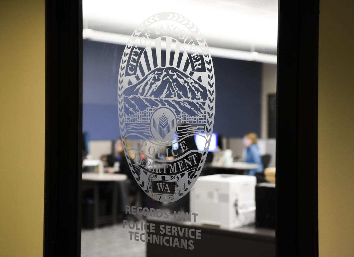 The Vancouver Police Department West Precinct added a records office and records window for the public, which helps support law enforcement process police reports, as seen last December. (Ariane Kunze/The Columbian) The Department is in the market for a new software program.