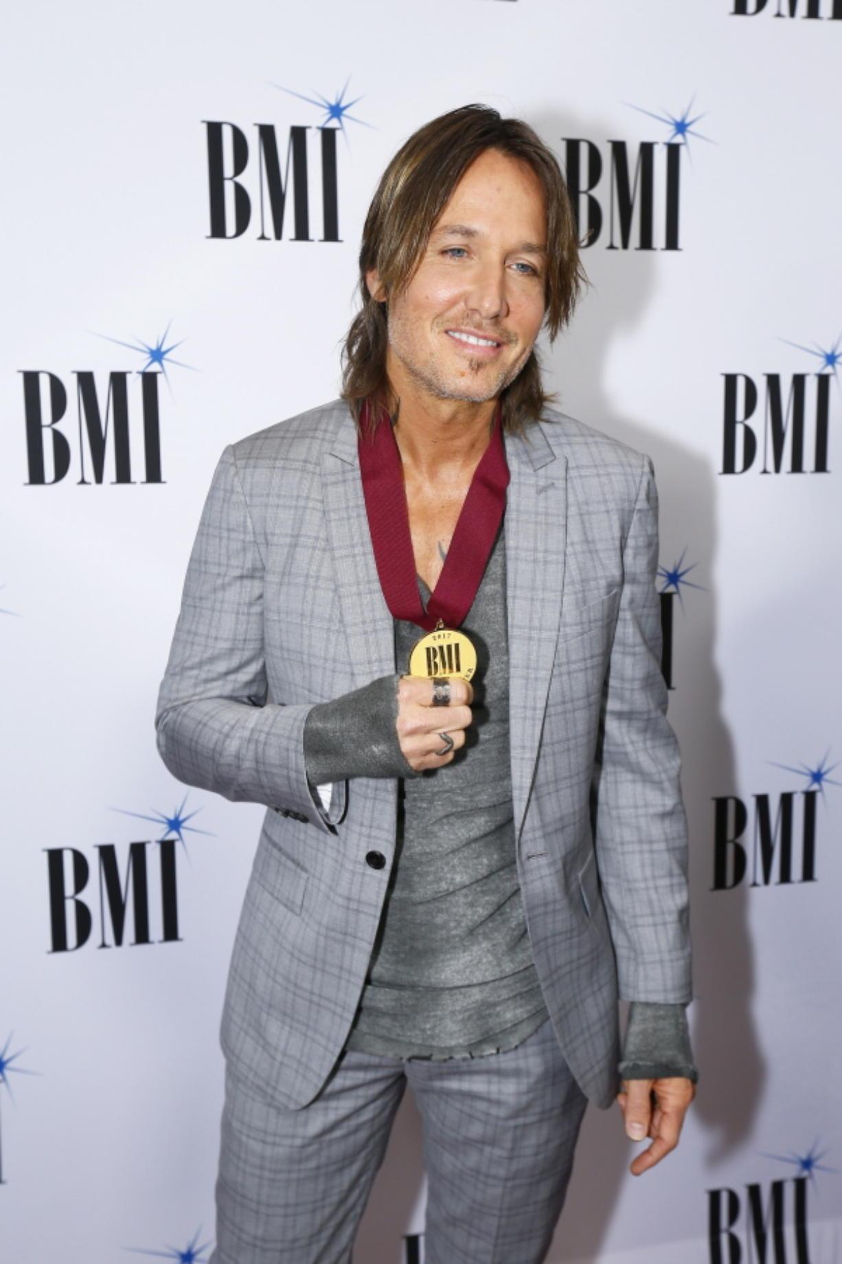Keith Urban arrives at the BMI Awards at BMI Nashville on Nov. 7 in Nashville, Tenn.