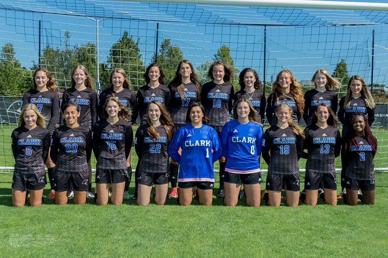 The Clark College women's soccer 2017 team went 11-0-1 to win the NWAC South Region title. (Clark College photo)