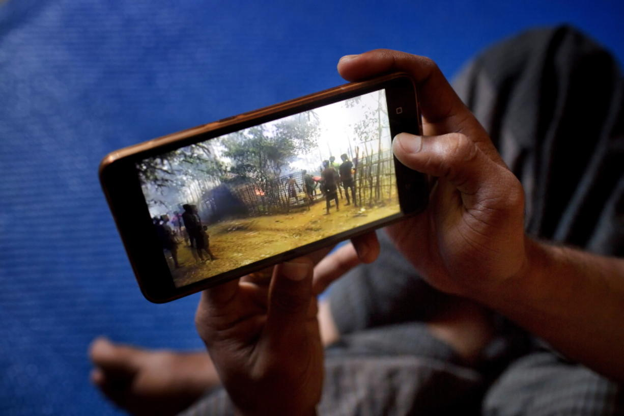 Rohingya refugees have only memories, saved on cellphones