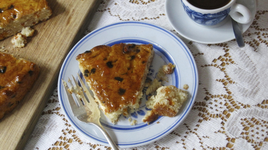 Dried Apricot Coffee Cake Recipe