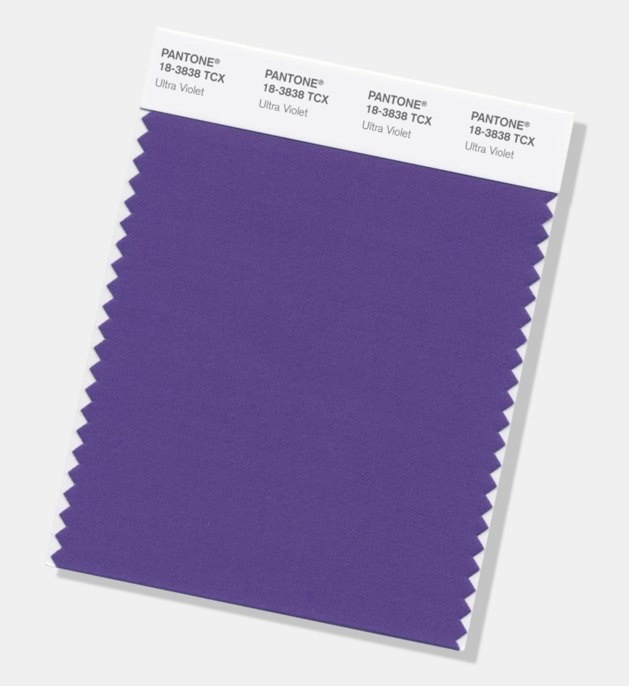 "The Pantone Color of the Year for 2018, called ""Ultra Violet."" Pantone Color Institute"