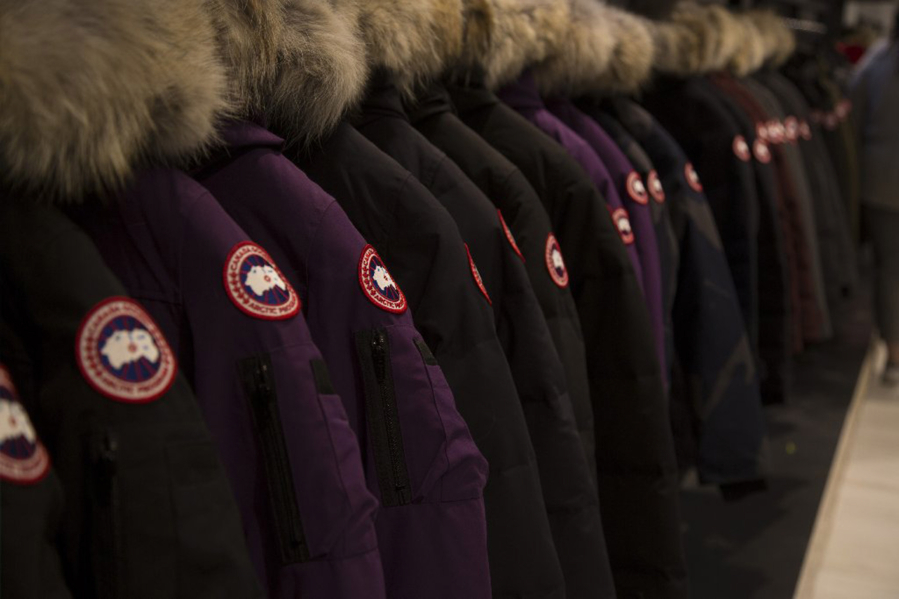 ba0e6f3045b These Canada Goose jackets at the company s flagship store in Chicago are  never going on sale