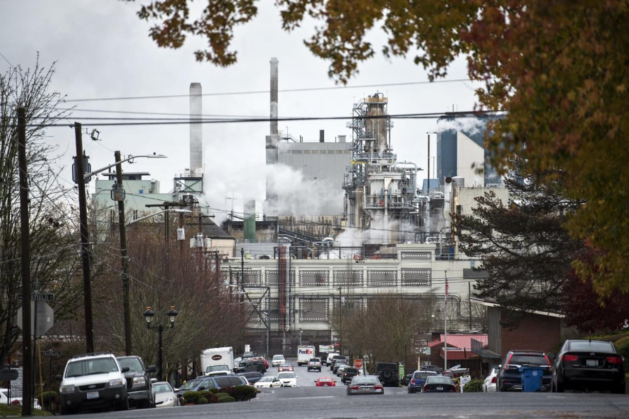 Georgia-Pacific announced in November 2017 that it plans to shut down several operations at its Camas mill. (Alisha Jucevic/The Columbian files)