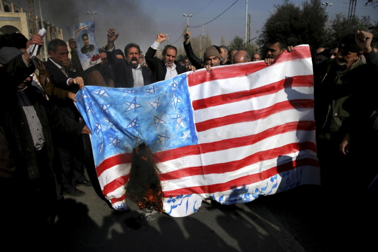 Iran pro-government protests decry U S  - Columbian com