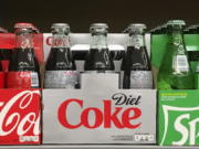 Coca-Cola Co. refreshments are on display in May at a supermarket.