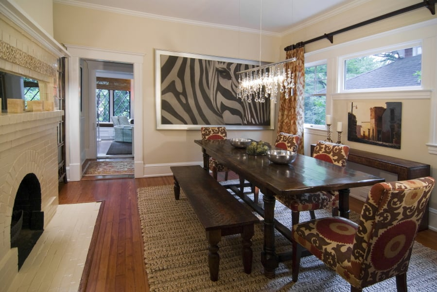 This Photo Provided By Laura Casey Shows A Dining Room In Charlotte, N.C.,  Designed