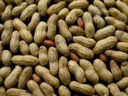FILE - This Feb. 20, 2015 file photo shows an arrangement of peanuts in New York.
