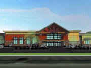 A Rosauers grocery is planned for a development at the Port of Ridgefield.