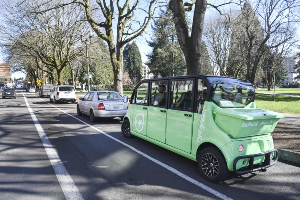 The Ryd shuttle started rolling around downtown Vancouver a few weeks ago. The people behind the company hope to expand their fleet in the future.