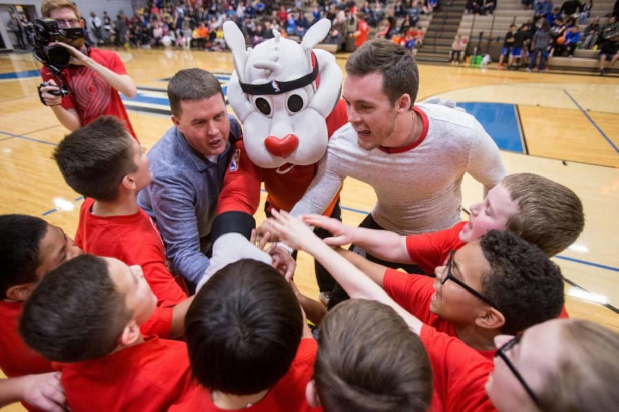 Central Park: Blazers guard Pat Connaughton surprised more than 300 kids on March 2 when he and Maurice Harkless coached teams in the Police Activities League Youth Basketball Championship hosted at Clark College.
