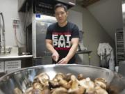 Vancouver entrepreneur Michael Pan is hoping to make waves in the food industry with his family's mushroom jerky recipe. His company recently began renting space in an industrial kitchen to ramp up production.