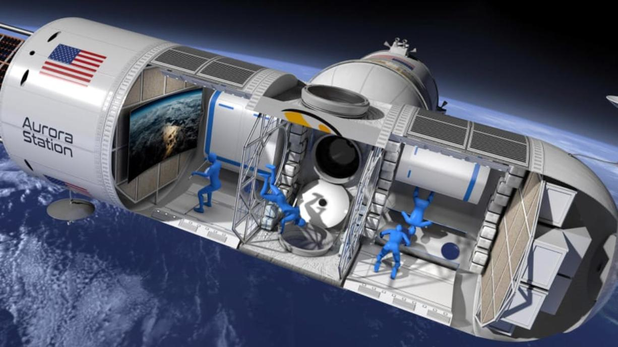 What the inside of the orbiting hotel may look like. Orion Span