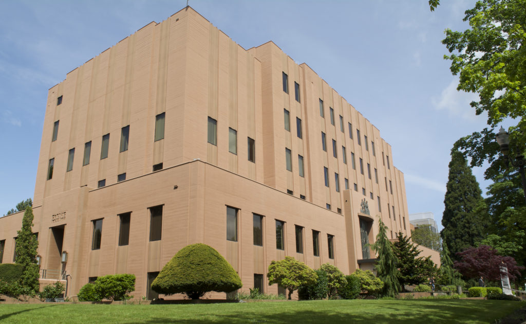 The Clark County Courthouse in May 2014. (The Columbian files)