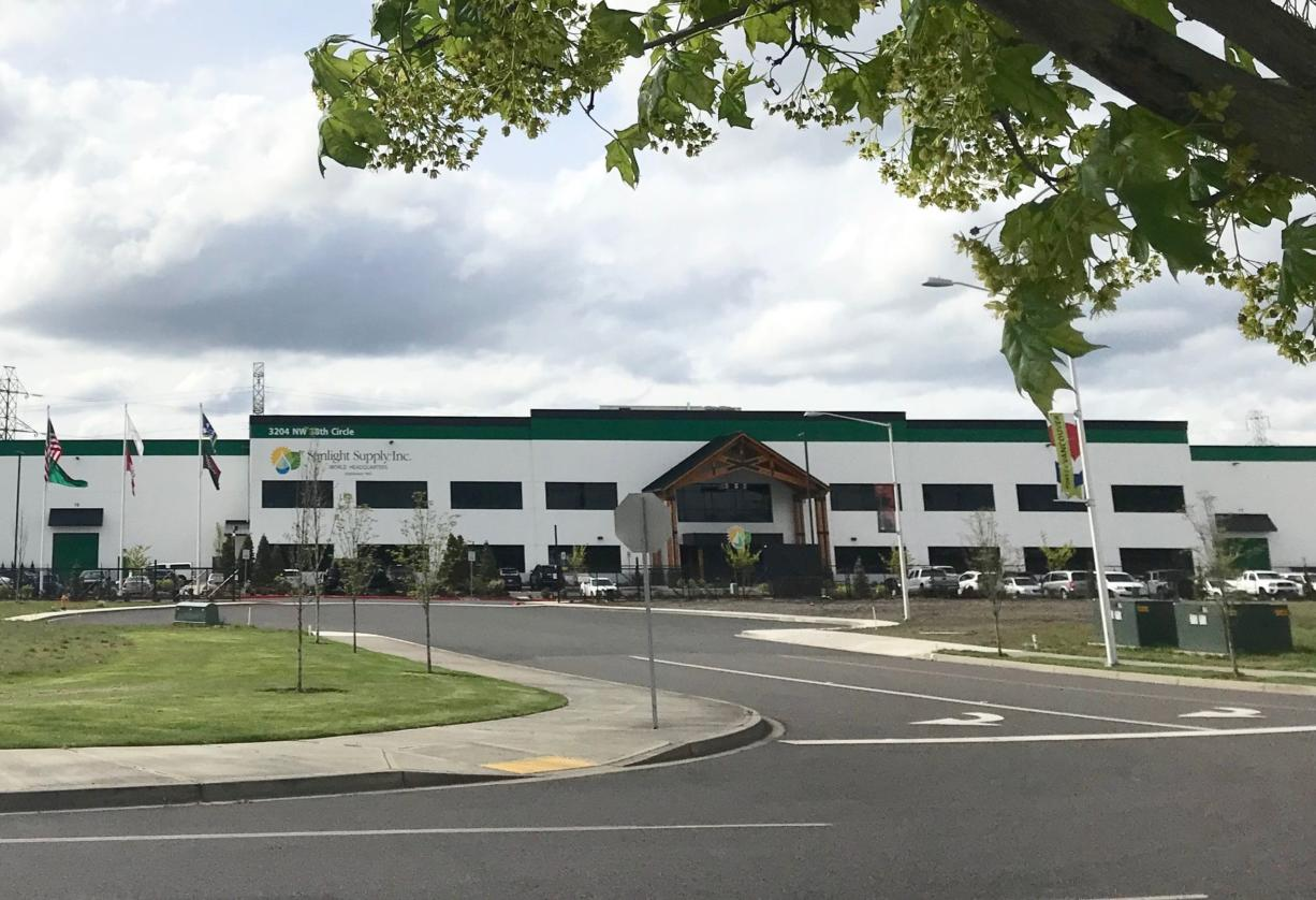 Sunlight Supply in downtown Vancouver has been acquired by Scott's MiracleGro, becoming part of its hydroponic gardening subsidiary, Hawthorne Gardening Company. Sunlight's 300,000-square-foot headquarters, above, will be the cornerstone of Hawthorne's supply chain, according to a statement from Scott's.