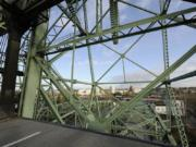 Downtown Vancouver is visible from the elevated lift span of the Interstate 5 Bridge. The Oregon Department of Transportation predicts that the bridge will be lifted more often over at least the next week due to rising waters of the Columbia River.