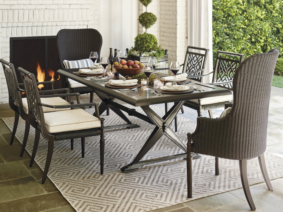 The Montserrat Woven Dining Chair Takes Style Notes From A Traditional  Colonial Era Wing Chair
