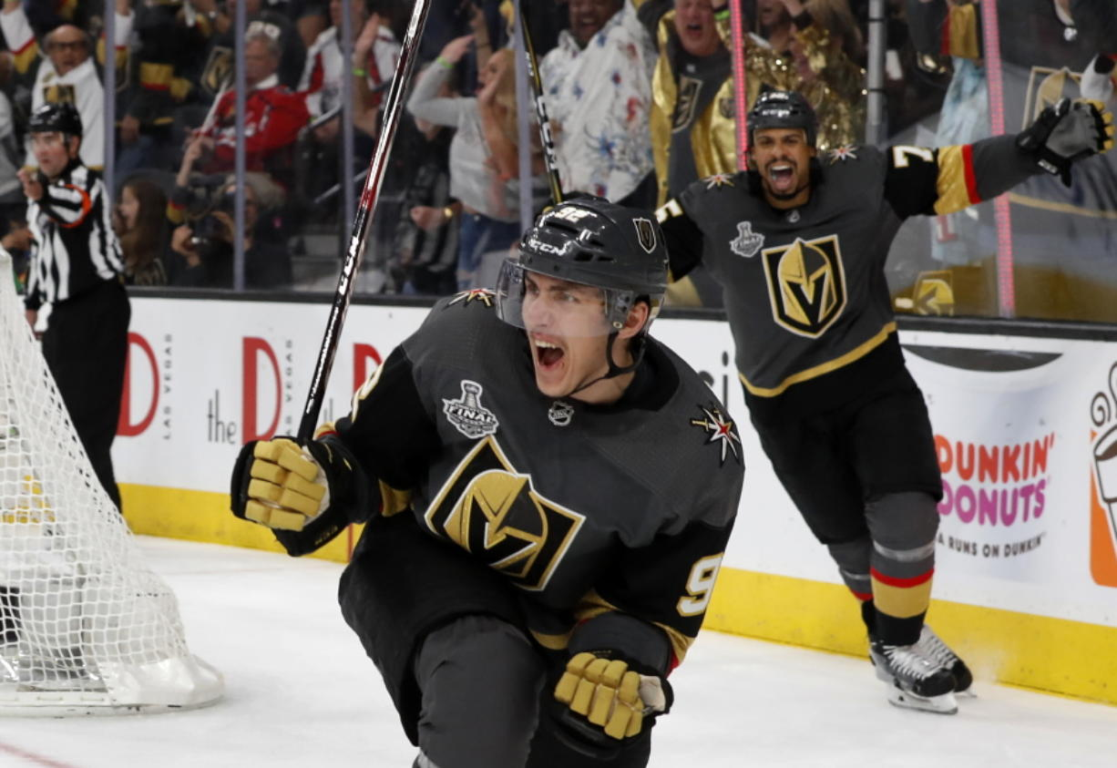 best loved d0748 66a3e Golden Knights outlast Caps 6-4 in Stanley Cup Final opener ...