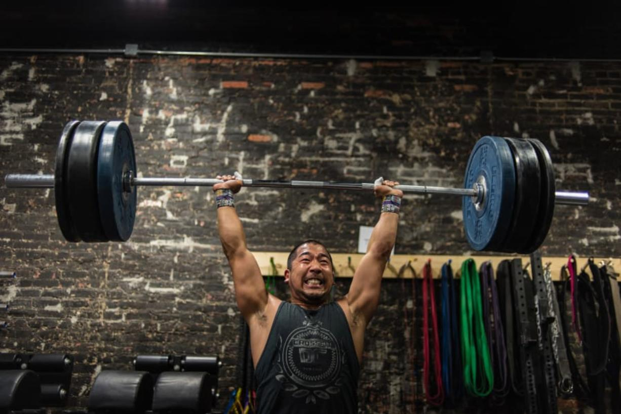 Tyler Downing, who has been doing Crossfit for four years, works out at Crossfit DC, a fitness movement sweeping the nation.
