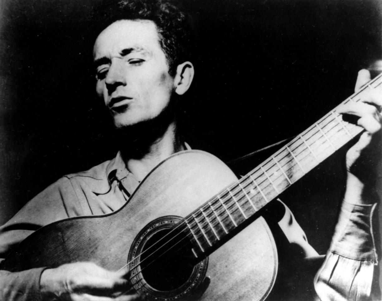 Folk singer Woody Guthrie.