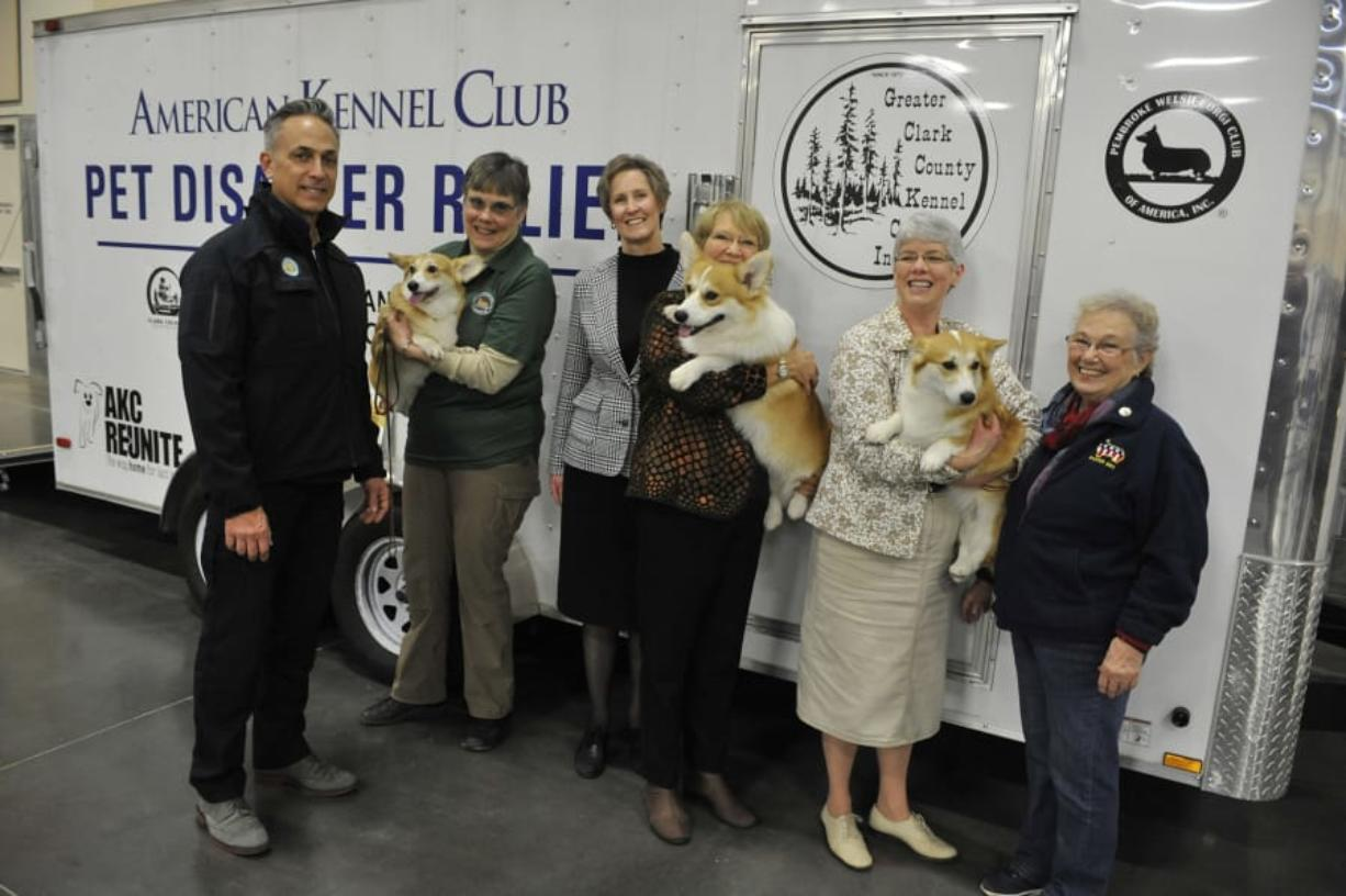 Paul Scarpelli, far left, Clark County's former animal control manager, has had a long presence in the county's animal welfare community. Now, he's out of a job.