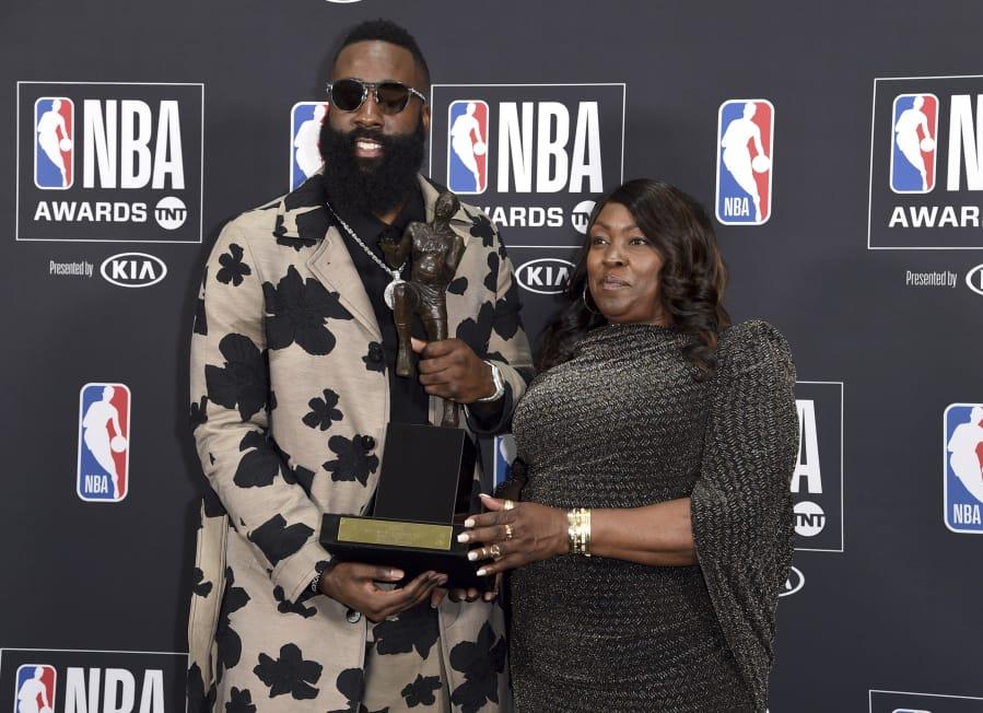 1335e9d7a8fa Rockets  Harden wins NBA MVP over James and Davis