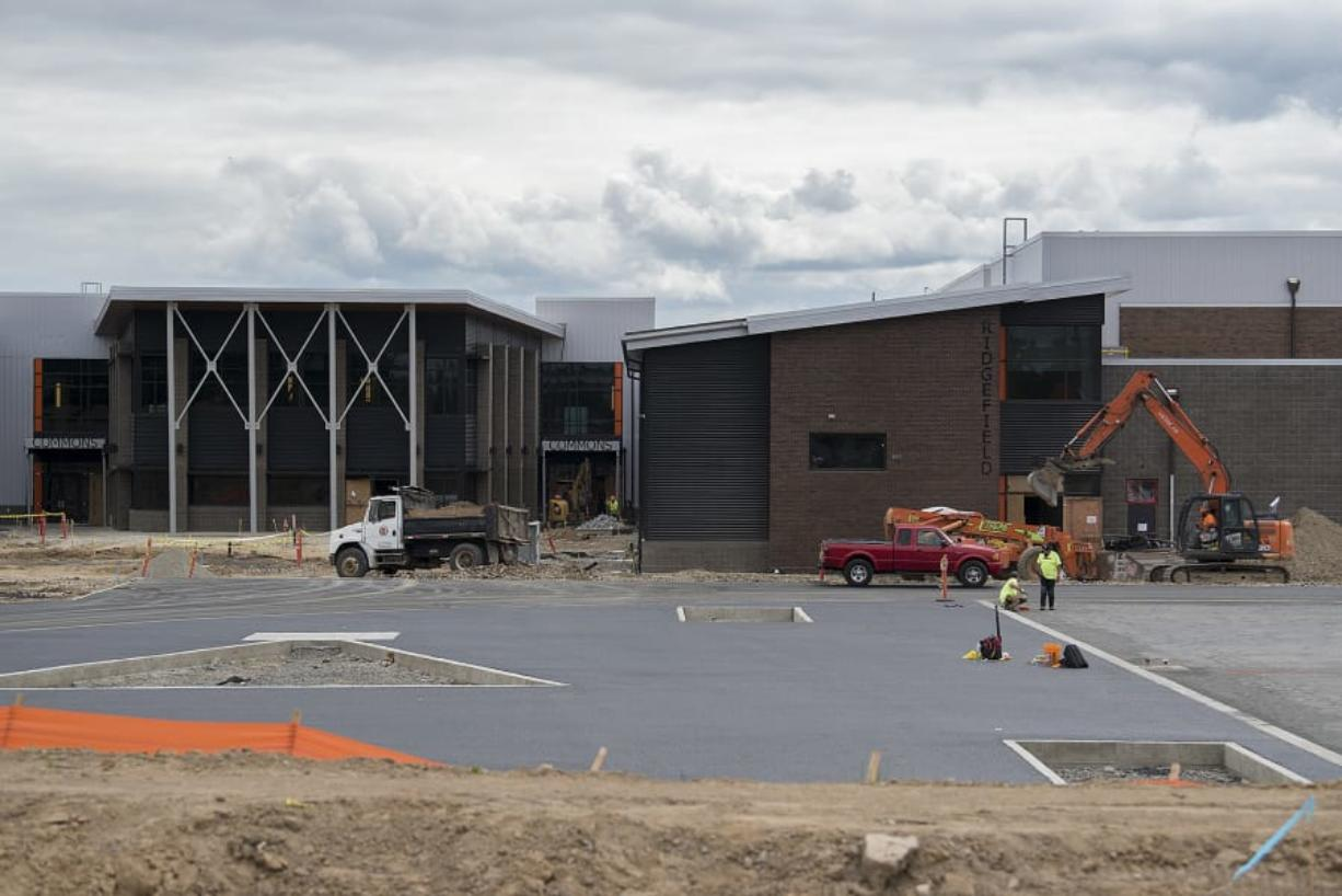 Construction continues on the new campus set to open in the Ridgefield School District in August after being largely funded from a $78 million bond in 2017.