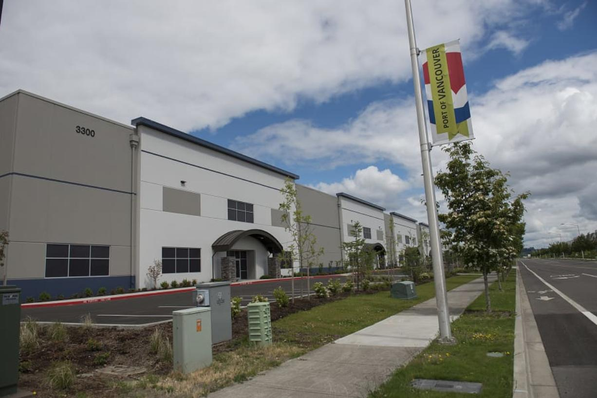 Hawthorne Gardening Co., a subsidiary of Scotts Miracle-Gro, hopes to lease space from the Port of Vancouver's Centennial Industrial Building, seen Thursday morning. The new space would be down the road from the former Sunlight Supply headquarters, which Scotts bought in May.