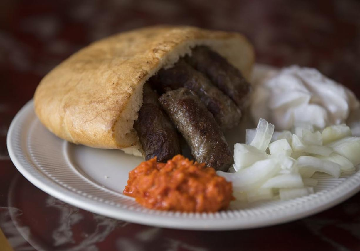 The Cevapi at Bosnia Restaurant in Vancouver.