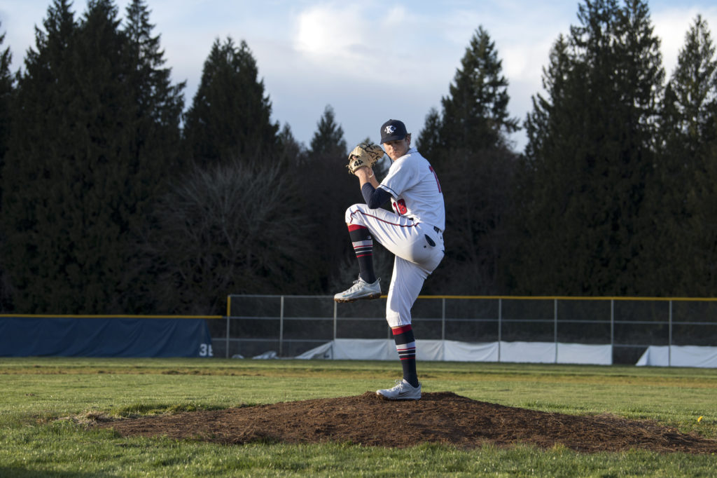 King S Way Pitcher Damon Casetta Stubbs Is Pictured Skyview In Vancouver On Wednesday Ev