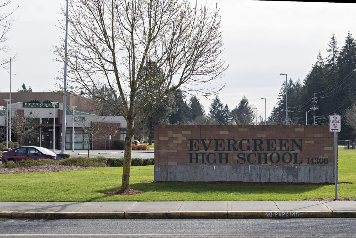 Evergreen High School in the Evergreen Public Schools district. (Amanda Cowan/The Columbian files)