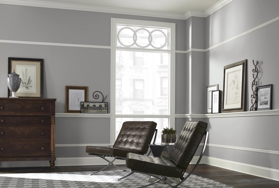 The Sherwin Williams Color March Wind Sw 7668 On Wall