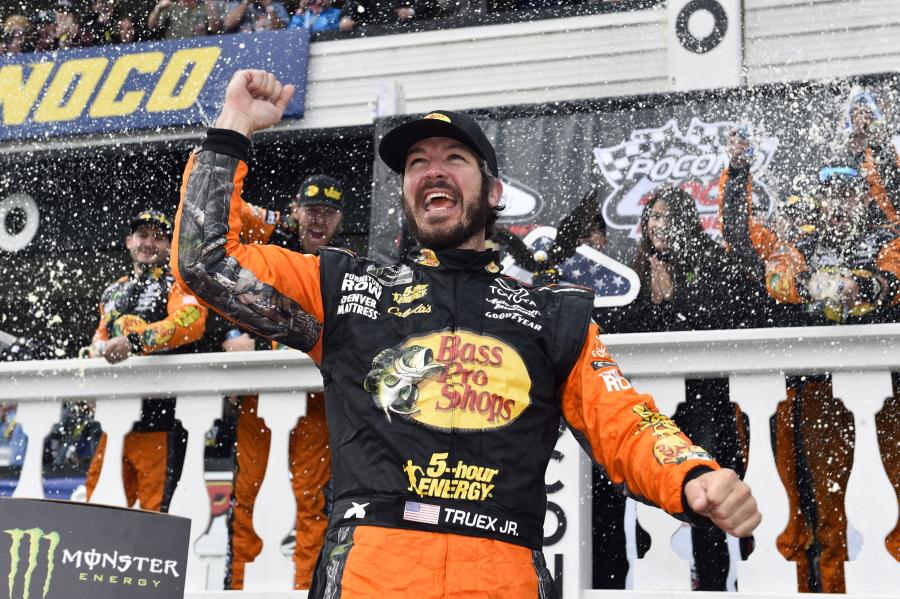 Truex pulls away on restart to win NASCAR Pocono race   The Columbian
