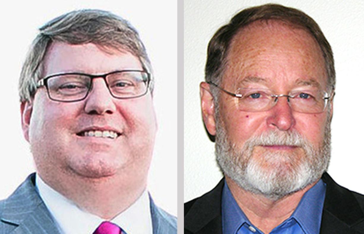 Clark County Assessor candidate incumbent Peter Van Nortwick, left, and challenger Darren Wertz (Provided photos)