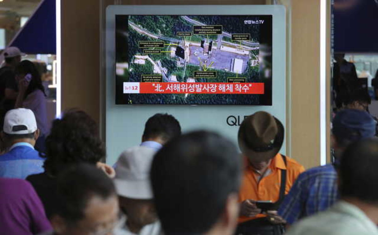 North Korea said to be dismantling key parts of launch site