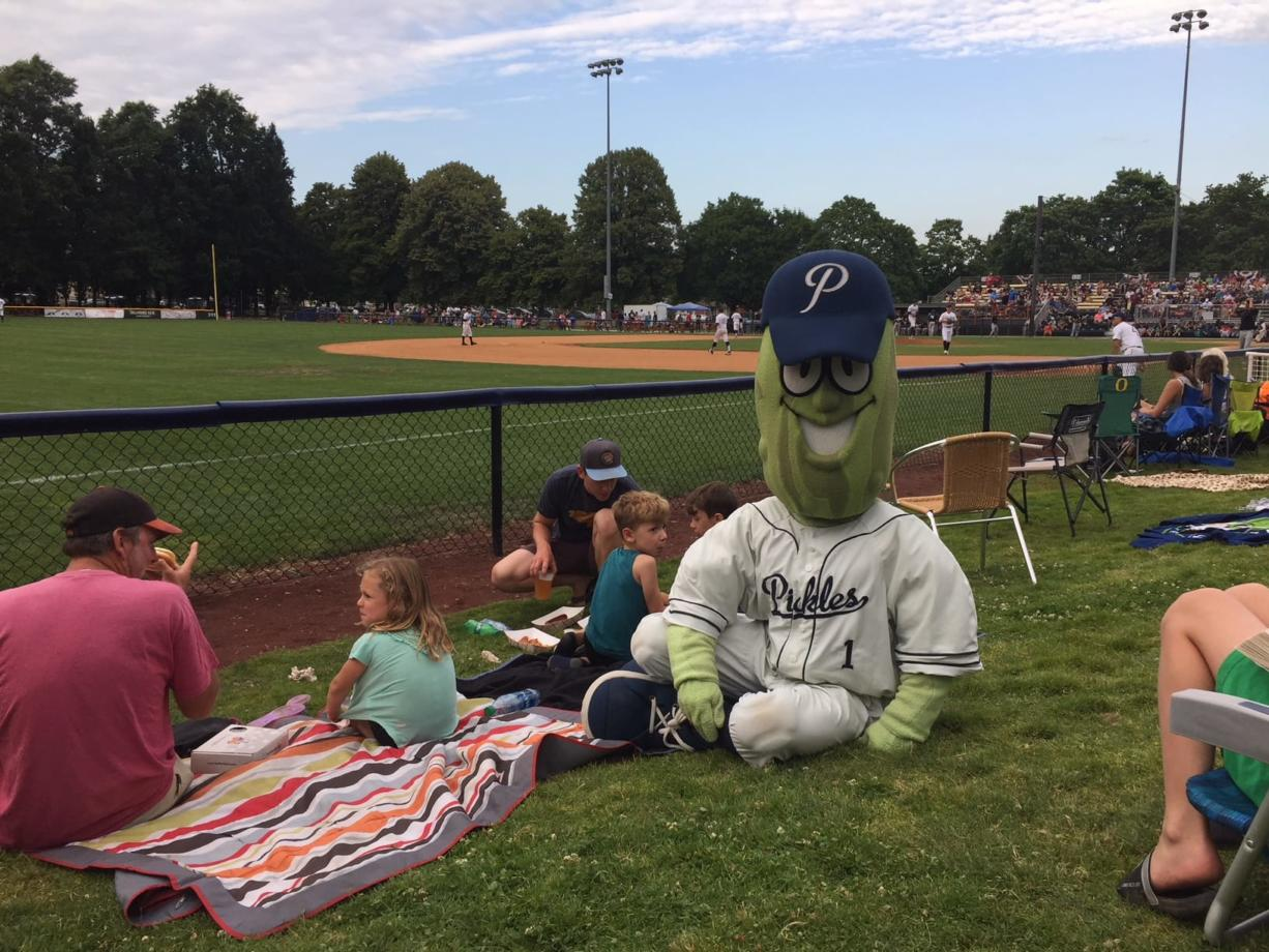 The Portland Pickles, shown here, offer a family-friendly baseball experience that hopefully will be replicated when the West Coast League expands to Ridgefield next year.