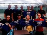 Vancouver Tennis Center 4.0-level over-40 team will be playing in the USTA Pacific Northwest Sectional tournament. Pictured are (back row from left): Michael Kazangian, Steve Bruning, James Feeney, Jeff Berman, Richard Santos, and Shan Schannep; (front row from left): Manny Brar, Pete Aleman (Captain), Dr. Alan Jones, Vincent Scopacasa. Not pictured: Craig Evans, Shung Shin, Jeff Gulley, Everett Frank, Tyler Shoemaker.