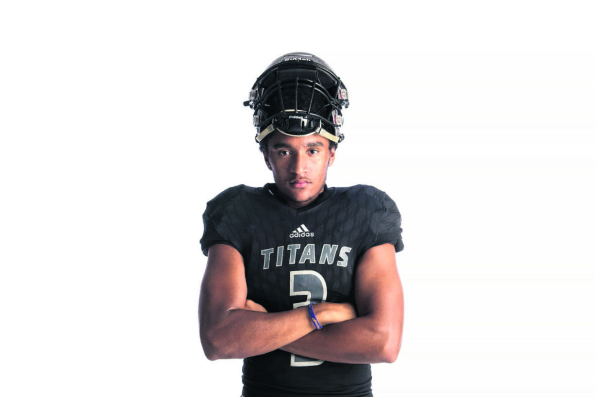 Union High School receiver and cornerback Darien Chase (Nathan Howard/The Columbian)