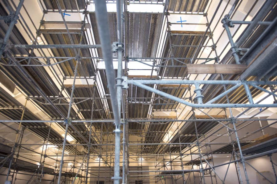 From blueprints to bibles a resurrection for hazel dell church scaffolding fills the main hall at vancouver united church of christ otherwise known as first malvernweather Gallery