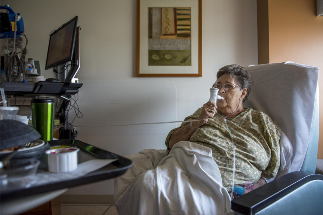 Darlene Hunt, 76, of Vancouver was admitted to the Legacy emergency room Monday for treatment and remained in the hospital Tuesday. Legacy spokesperson Kelly Love said that medical professionals at Legacy have told her they often see an increase in the number of bronchitis and pneumonia cases about two to three weeks after a stretch of unhealthy air.