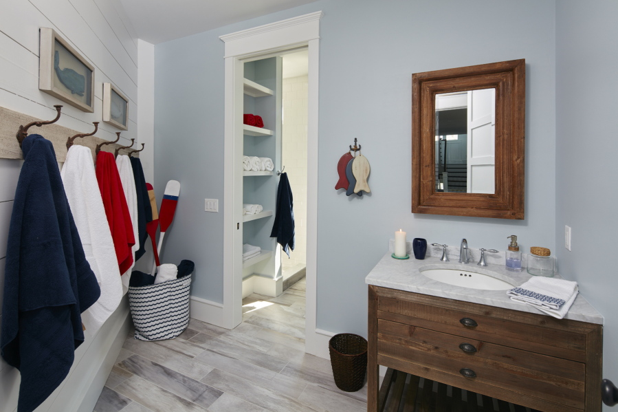 This Photo Provided By Marnie Homes Shows A Bathroom And Bedroom Area  Designed By Marnie Oursler