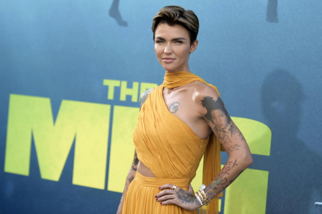 """Ruby Rose attends the L.A. premiere of """"The Meg"""" at TCL Chinese Theatre on Aug. 6 in Los Angeles."""