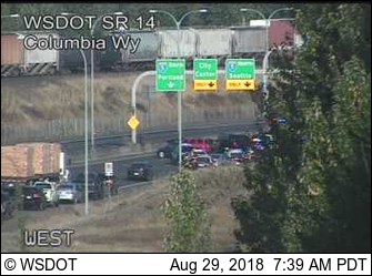 Police chase on state Highway 14 delays morning commute - Columbian com