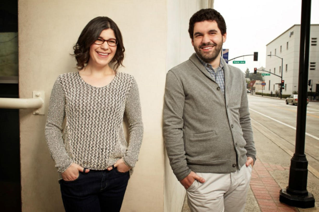 """""""Steven Universe"""" creator Rebecca Sugar and her brother Steven Sugar, the inspiration for her Cartoon Network series."""