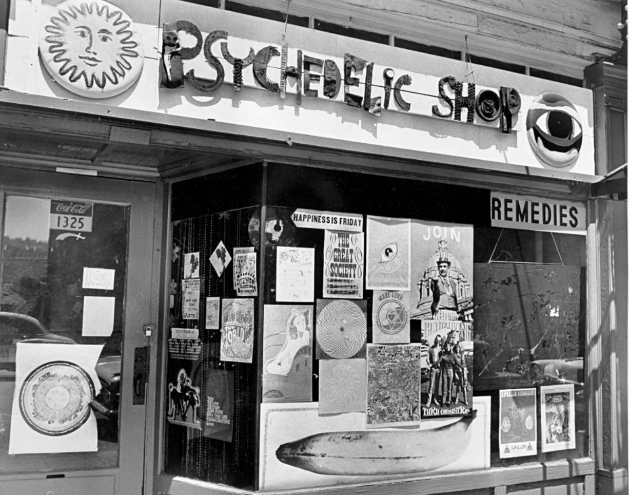 Portland's Psychedelic Shop, a hotbed of the counterculture at Southwest Thirteenth and Washington, photographed in June 1967.