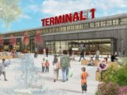 In these conceptual renderings, Terminal 1, the Port of Vancouver's oldest property, would cater to pedestrian traffic and be anchored by a large public marketplace building that would pay homage to the site's industrial past. The port and the architects it's working with released the designs to the public on Tuesday.