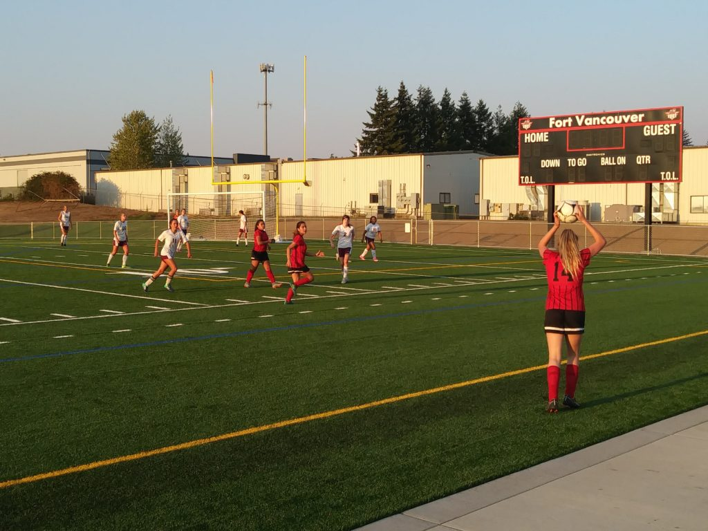 31fd27d596b The Fort Vancouver girls soccer team beat Stevenson 6-4 on Wednesday in its  first