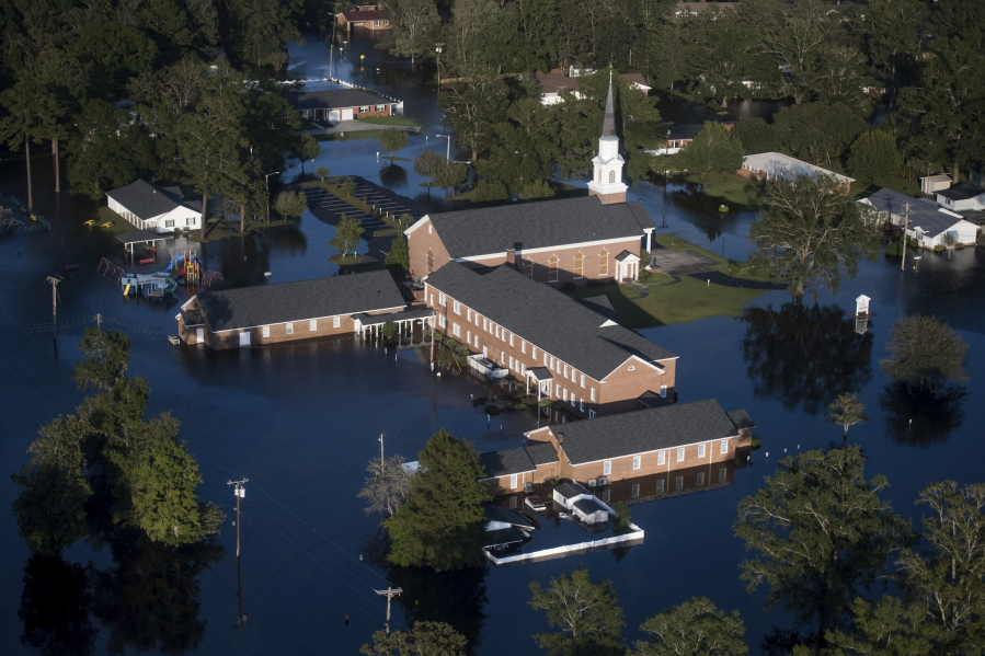 Floodwaters Inundate A Church After Hurricane Florence Struck The Carolinas On Monday In Conway S C