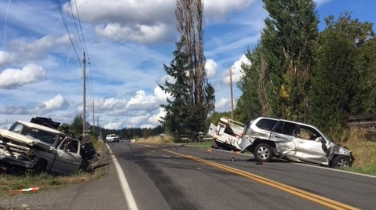 One person died in a multi-vehicle crash Friday in the 28900 block of Northeast 82nd Avenue.